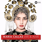 Maria Callas – Live and Alive / WMG 0190295844677 / 2 CDs € 17,95 / 1 LP € 21,95