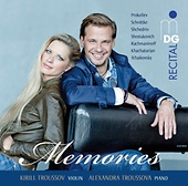 Kyrill Troussov, Violine/Alexandra Troussova, Klavier/Memories – Russian Album/ MDG 6031903-2/ CD € 17,95