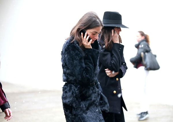 Capucine Safyurtlu, fashion & market editor of Vogue Paris and Emmanuelle Alt, editor in chief of Vogue Paris