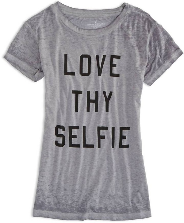 AE Love Thy Selfie Graphic T-Shirt
