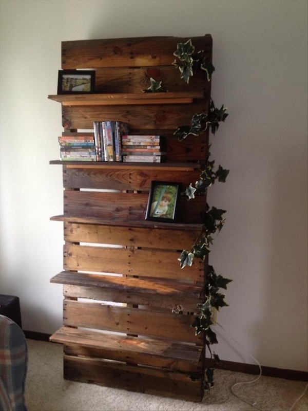 ... Bookshelf Ideas with Pallet Wood | Pallet Furniture Plans (Image 1