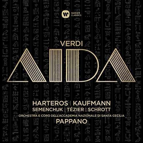 Giuseppe Verdi - Aida. Pappano/Kaufmann/Harteros/ Accademia Santa Cecilia/WMG 2564610663/3CD €27,95.