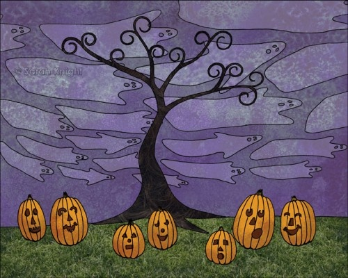 halloween, by Sarah Knight 8X10 inch open edition print