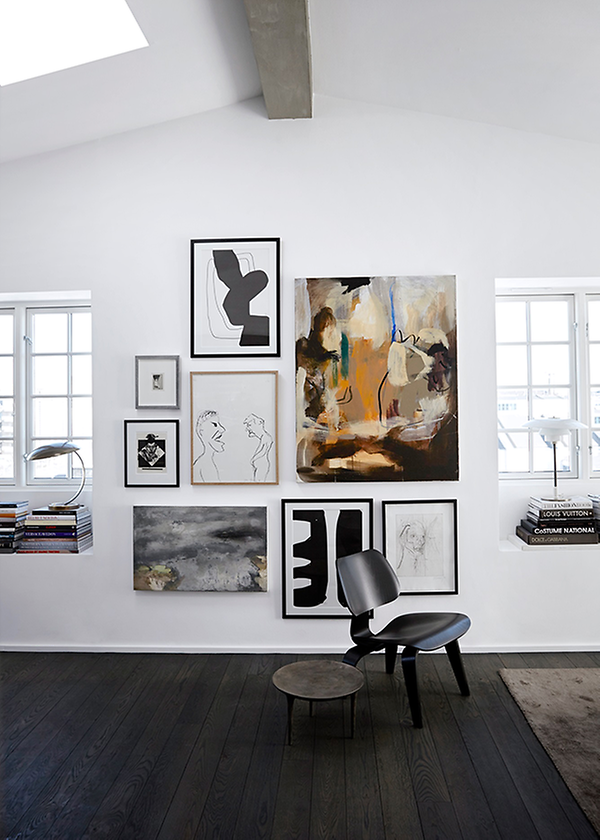 http://cocolapinedesign.com/2014/07/04/black-floor-art-walls/