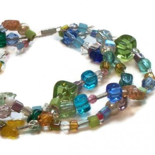 Colorful Butterflies Bracelet and Earrings Set