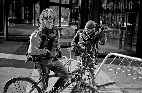 Photography: Trevor Hughes' collection of photos of bike messengers in the 90s