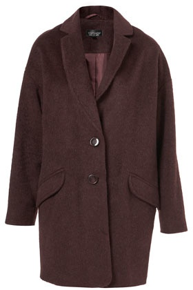 Soft Angora Boyfriend Coat, Topshop, $178