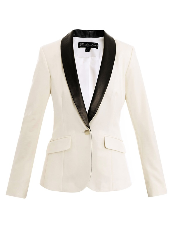 Rex leather-lapel tuxedo jacket, Matches,  £425