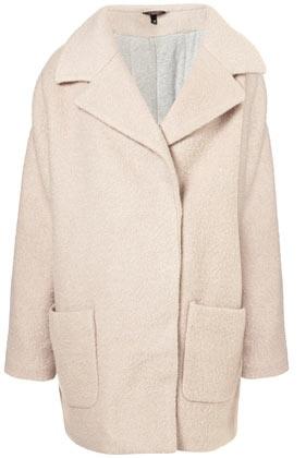 Textured Wool Cocoon Jacket, Topshop USA, $170