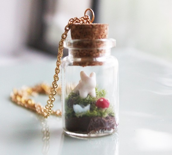 Terrarium Necklace by iluxo on Etsy