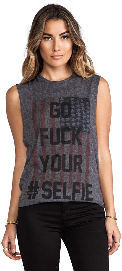 The Laundry Room Selfie Flag Muscle Tee
