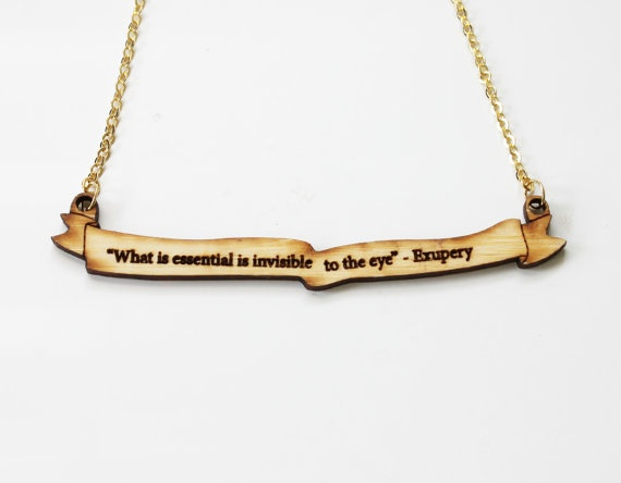 The Little Prince Quote Necklace $26