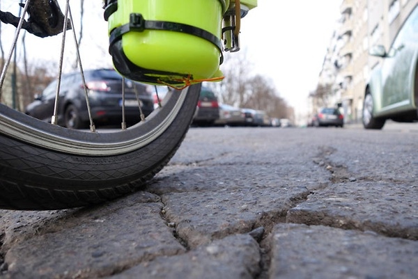 This Cycling App Auto-Spray-Paints Potholes So Cities Know Where Repairs Are Needed