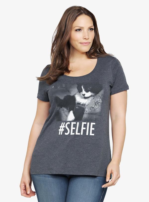 Torrid #Selfie Cat Tee