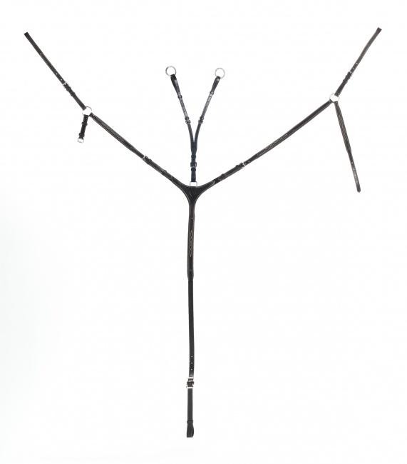 Vorderzeug mit Martingalgabel - schwarz (BL)