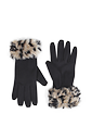 Emma Faux Fur Gloves >