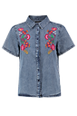 Julia Embroidered Denim Shirt