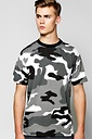 Loose Fit Camo Print T-Shirt £6