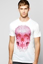 Abstract Skull Print T-shirt