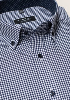 Kariertes Hemd aus Popeline