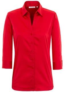 Rot hat Signalwirkung. Bei vielen Gelegenheiten kann man mit dieser roten Bluse, die es hier im ETERNA-Onlineshop zu kaufen gibt, sicherlich Komplimente ernten.