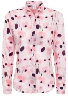 Es muss nicht immer einfarbig sein: Das Printmuster der Bluse vom Titelbild ist ebenfalls businesstauglich. Erhältlich ist die Bluse hier im ETERNA-Onlineshop.