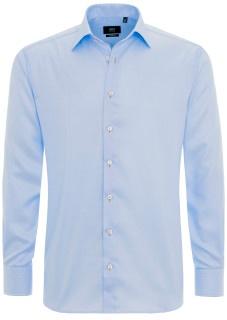 Helles Blau ist der Business-Klassiker. Denn diese Farbe wirkt seriös und erweckt Vertrauen. Dieses hellblaue Hemd gibt es hier im ETERNA-Onlineshop zu kaufen.