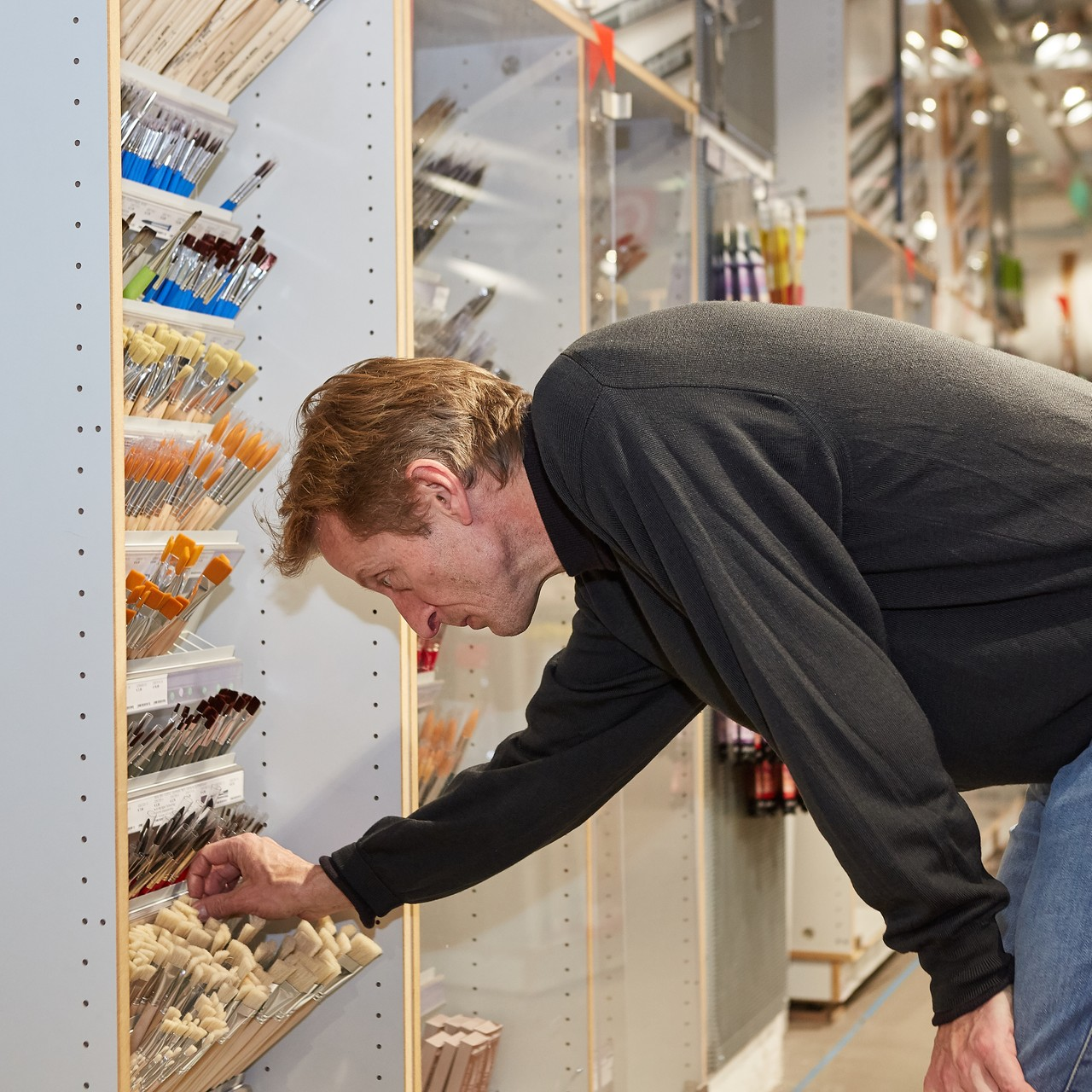 Christof Struhk Geschäftsführer von Modulor in Berlin im Laden am Moritzplatz
