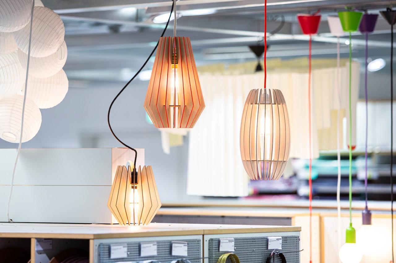 Holz-Leuchten skandinavisch