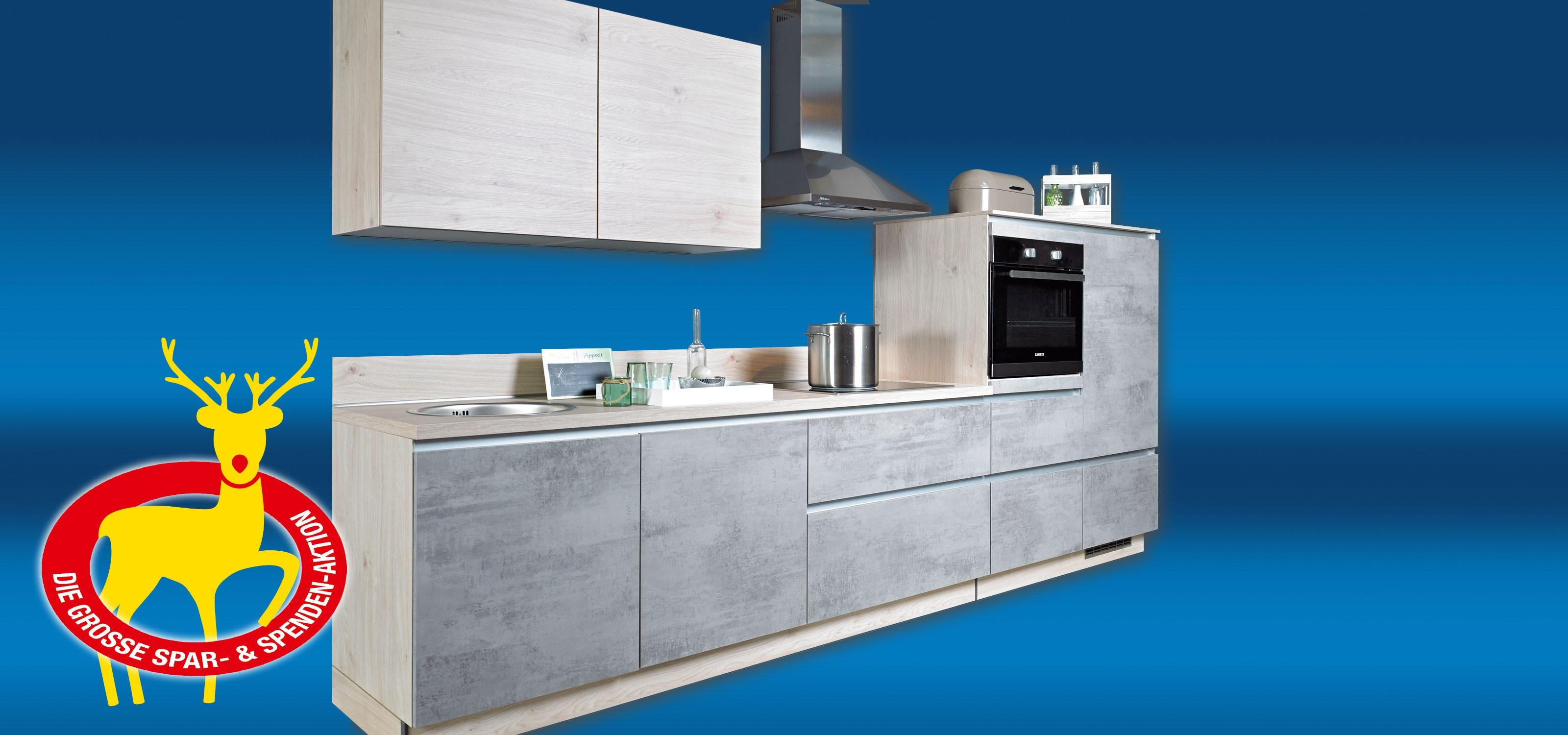 Einbauküche Beton