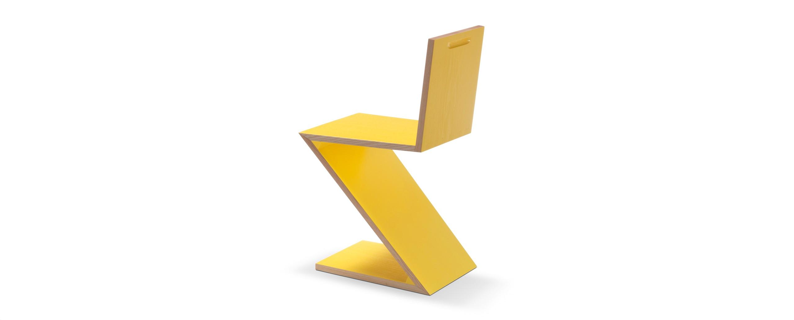 Bauhaus 4 zickzack stuhl von gerrit thomas rietveld for Design stuhl zig zag