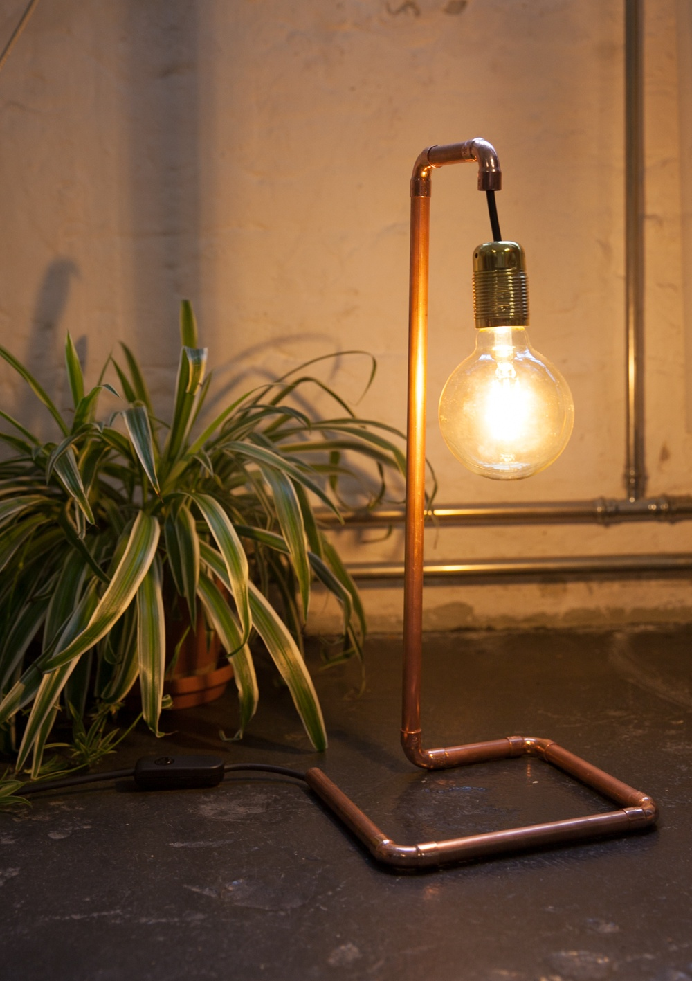 diy lampe im industriedesign