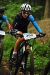 Annette beim Mountainbikerennen
