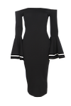 Bardot Frill Sleeve Midi Dress >