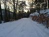 Berglauf bei Schnee