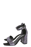 Block Glitter Heel