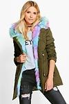 Boutique Eliza Faux Fur Hood Parka