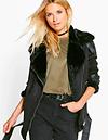 Boutique Paige Bonded Aviator Jacket
