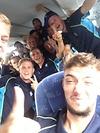 Busfahrt nach dem Sieg in Koblenz