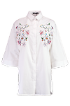 Cait Embroidered Wide Shirt Dress >