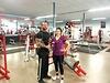 Christina im Fitnessstudio mit der SIGG VIVA