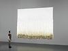 """Der """"Metamorphosis""""-Wollteppich von Designerin Seraina Lareida ist in unserem Hauptfenster zu sehen."""