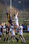 Die deutsche Rugby-Nationalmannschaft an der Gasse