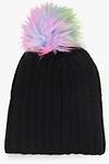 Elena Mermaid Faux Fur Pom Beanie Hat