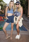 Gigi Hadid and friend at one of Coachella's private parties