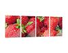 Glasbild Leuchtende Erdbeeren