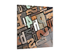 Glasbild Steckkasten Buchstaben