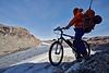 Gletscher mit dem Mountainbike