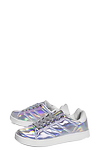 Glitter Lace Up Trainer >