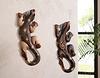 Holz-Gecko, 2er Set